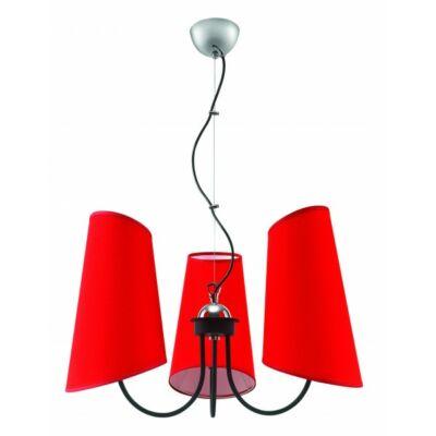 LAMPEX csillár Victoria 3 piros 337/3 CZE