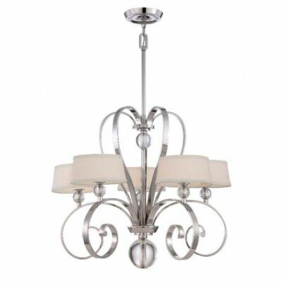 ELSTEAD Madison Manor 5Lt csillár Imperial ezüstszínű