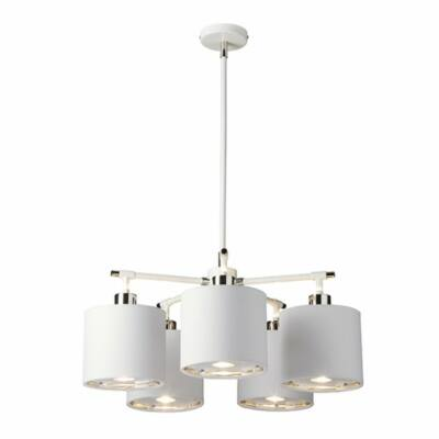 Elstead Balance White/Polished Nickel Chandelier csillár