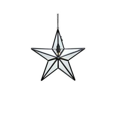 Markslöjd ANSGAR Karácsonyi függő dekoráció 50cm-üveg, fém fekete
