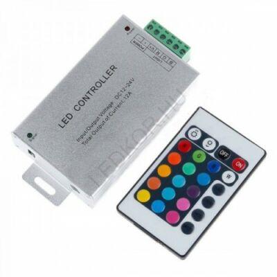 Infrás vezérlő-távirányító RGB LED-szalaghoz - 24 gombos