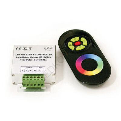 Vezérlőtárcsás, rádiófrekvenciás vezérlő RGB LED szalaghoz