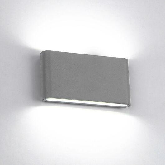 Lekerekített LED lámpa 2x6W 4000K IP65 szürke