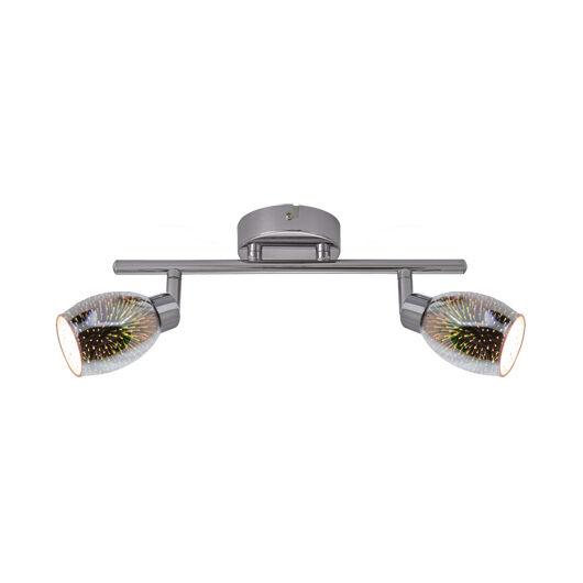 Etna LED fali lámpa króm 2xG9