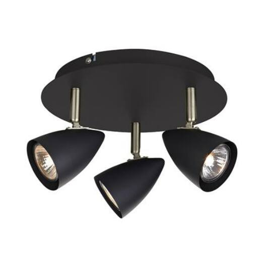 Markslöjd CIRO mennyezeti lámpa 3L fekete