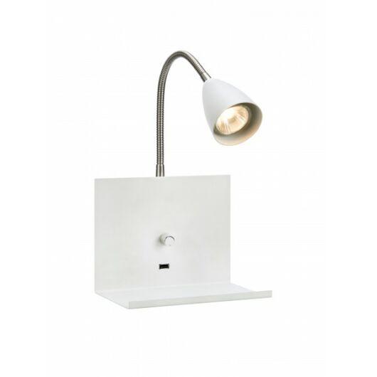 MARKSLÖJD LOGI fali lámpa polccal fehér GU10 1x7W