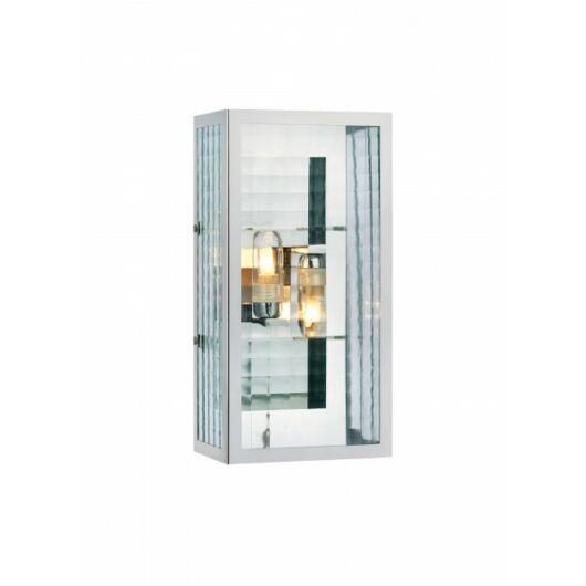MARKSLÖJD FULHAM kültéri fali lámpa fényforrással króm/üveg IP44 G9 2x28W