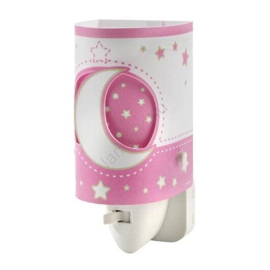 Dalber gyereklámpa - 'moonlight' rózsaszín éjjeli lámpa