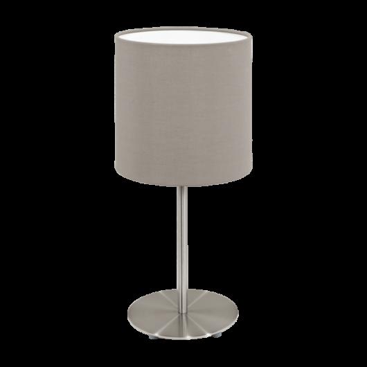 PASTERI textil asztali lámpa szürkésbarna 400
