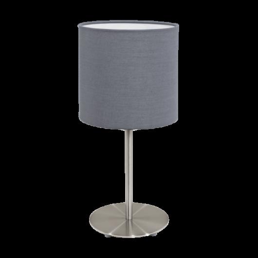PASTERI textil asztali lámpa szürke 400