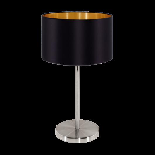 MASERLO textil asztali lámpa fekete 420
