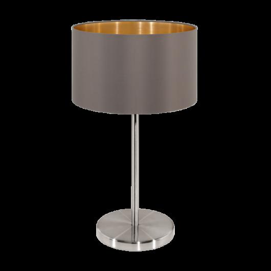 MASERLO textil asztali lámpa szürkésbarna 420