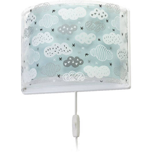 Dalber gyereklámpa - 'clouds' zöld fali lámpa