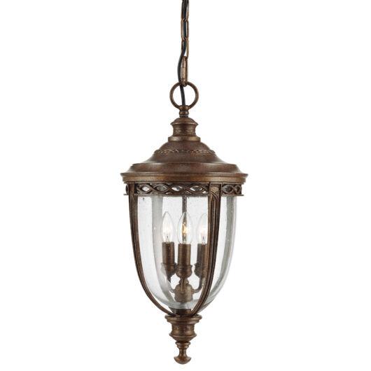 ELSTEAD English Bridle 3Lt (nagy méretű) függeszték lámpa sötétbronz