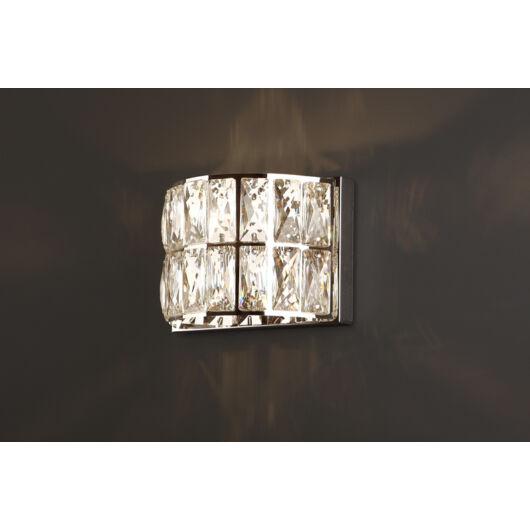 DIAMANTE fali lámpa króm 135mm
