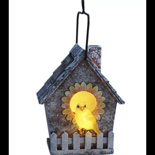 Szolár kerti lámpa madaras
