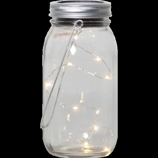 Jamjar kerti szolár lámpa