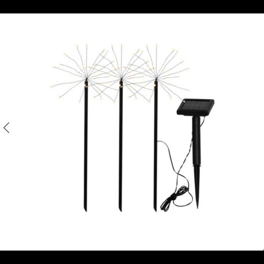 Tűzijáték  szolár lámpa 3darabos
