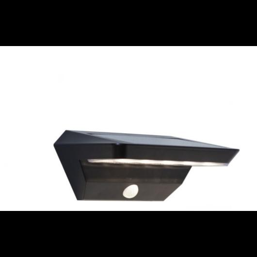 Szolár fali lámpa fekete