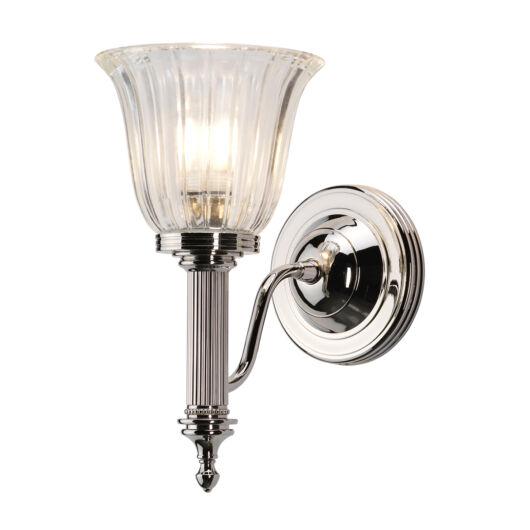 ELSTEAD Bathroom Carroll1 csiszolt nikkel fali lámpa