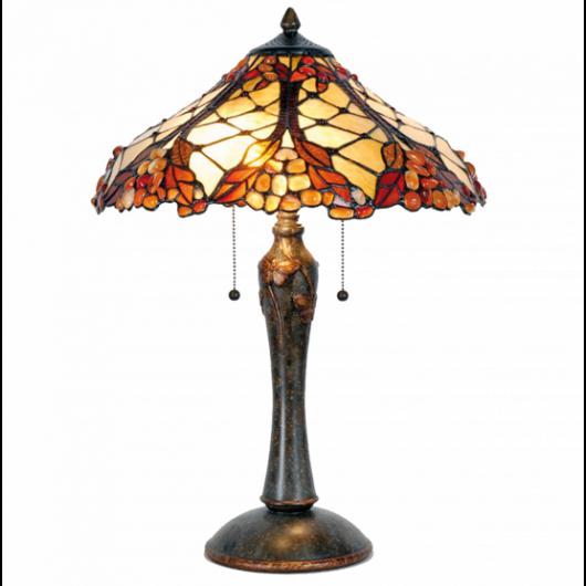 Filamentled Leyland Tiffany asztali lámpa