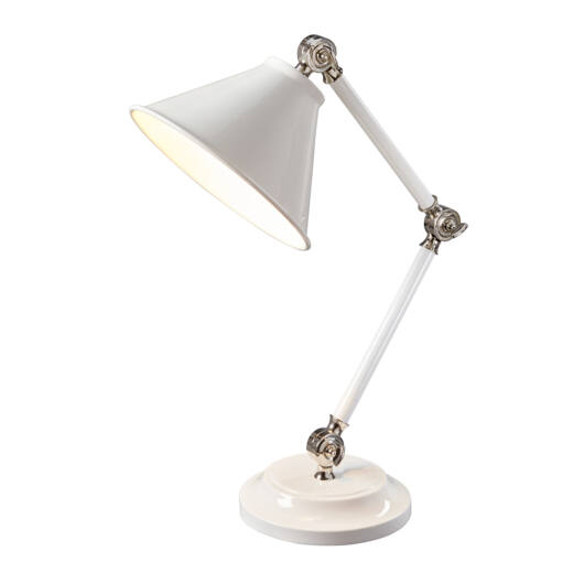 Elstead Provence Element White/Polished Nickel Table Lamp
