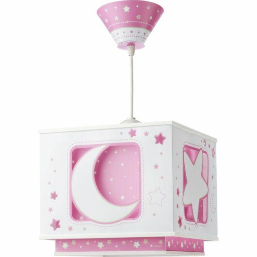 Dalber gyereklámpa - 'moonlight' rózsaszín függeszték