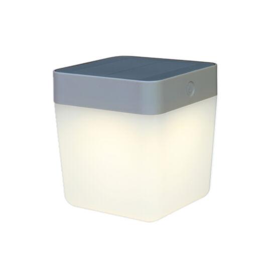 Lutec szolár ezüst lámpa