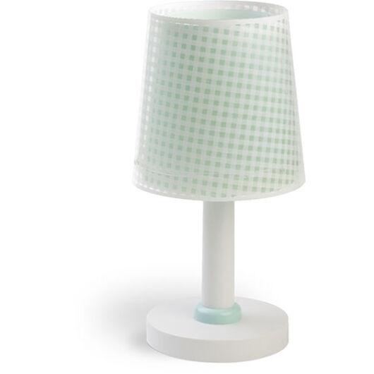 Dalber gyereklámpa - 'vichy' zöld asztali lámpa