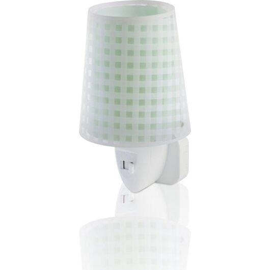 Dalber gyereklámpa - 'vichy' zöld éjszakai lámpa