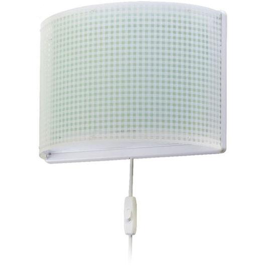 Dalber gyereklámpa - 'vichy' zöld fali lámpa