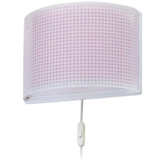 Dalber gyereklámpa - 'vichy' rózsaszín fali lámpa