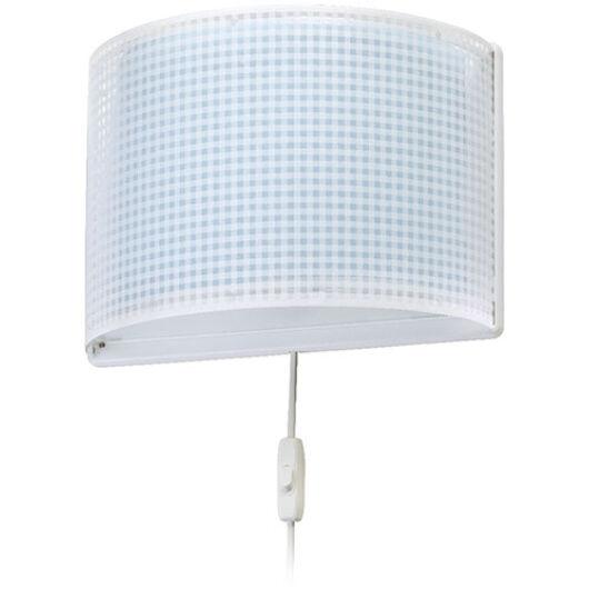Dalber gyereklámpa - 'vichy' kék fali lámpa