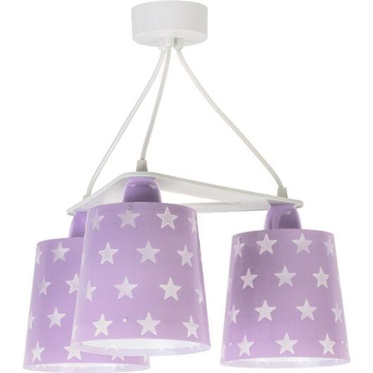 Dalber gyereklámpa - 'stars' lila függeszték 3