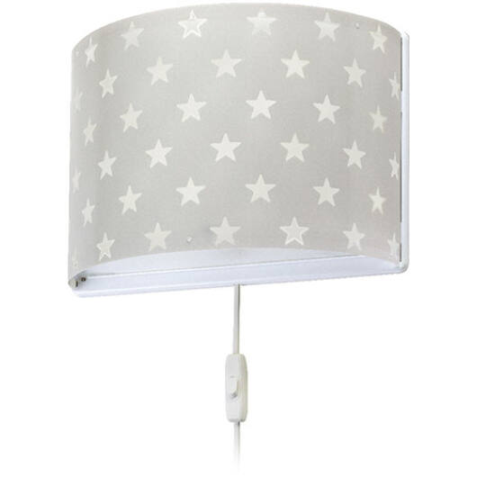 Dalber gyereklámpa - 'stars' szürke fali lámpa