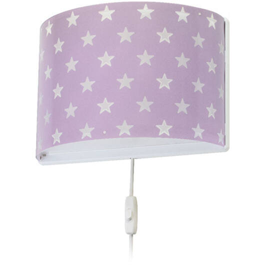 Dalber gyereklámpa - 'stars' lila fali lámpa
