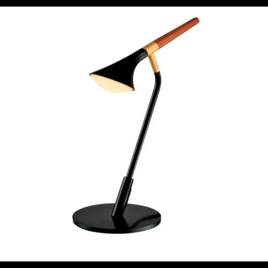DUNCAN LED asztali lámpa, fekete/fa