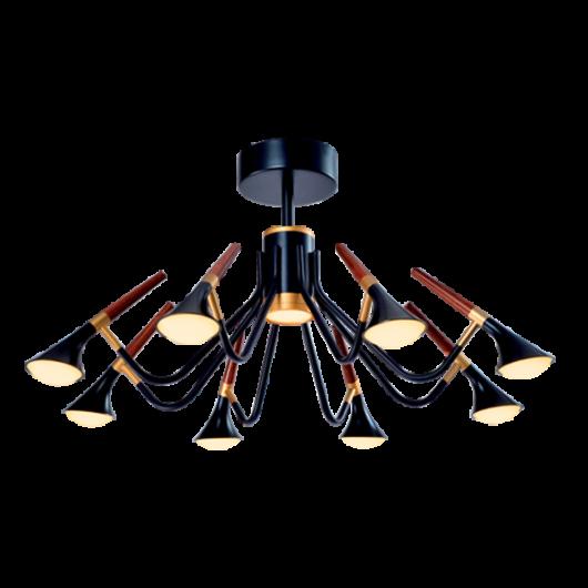 DUNCAN LED csillár 45W 3000K fekete/fa