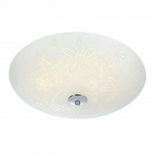MARKSLÖJD FLEUR mennyezeti LED 43 cm fehér/króm