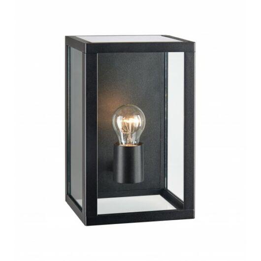 PELHAM kültéri fali lámpa fekete/üveg IP44 E27 1x60W