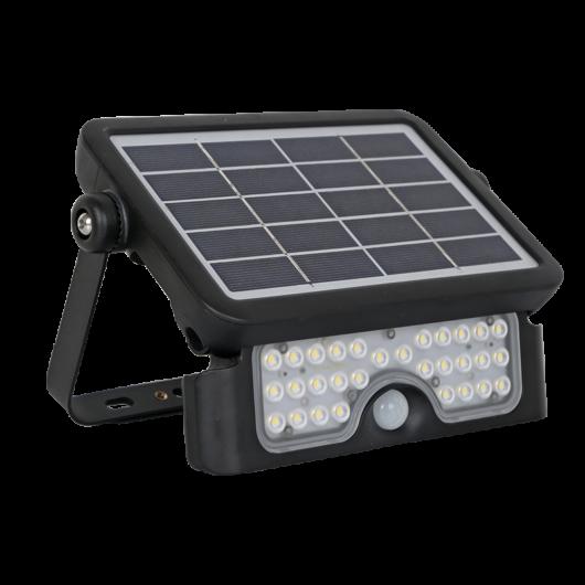 Napelemes fali LED lámpa mozgásérzékelős 30W IP65