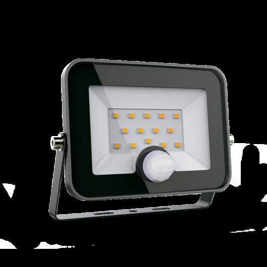 VEGA10 LED kültéri relektor mozgásérzékelővel 10W, 5500K, fekete