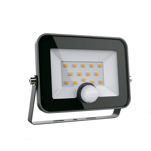 VEGA20 LED kültéri relektor mozgásérzékelővel 20W, 5500K, fekete