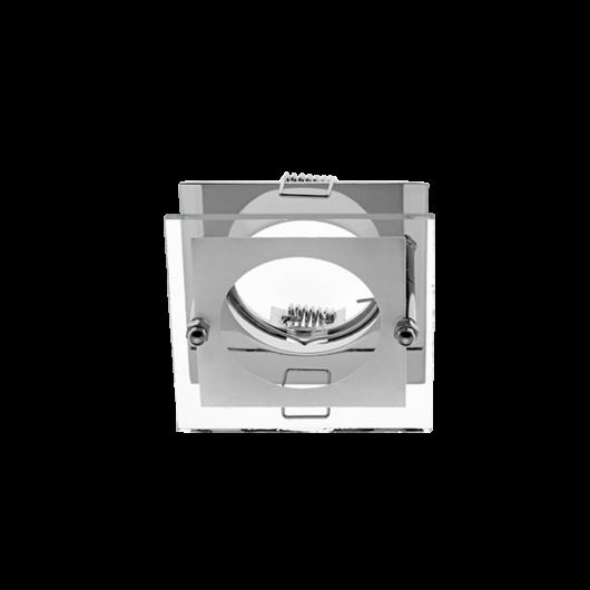 SA-712H  beépíthető spot lámpatest sülly. üveg előtéttel króm