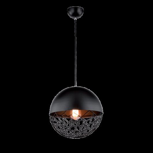 Kreatív gömb alakú fekete függeszték