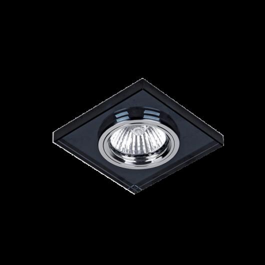 Négyzet alakú spotlámpa fekete