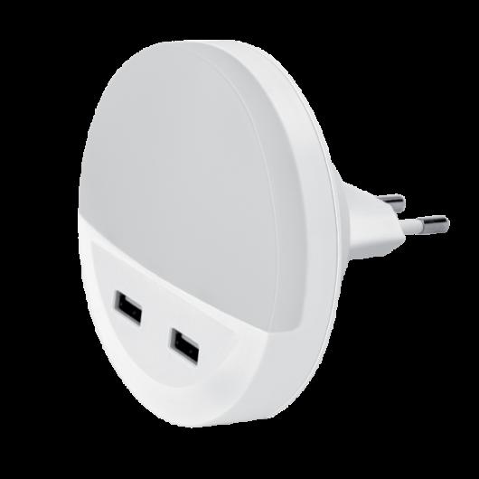 LED éjszakai fény USB töltővel