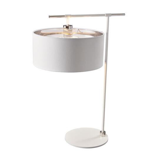 Elstead Balance fehér, fényes króm asztali lámpa