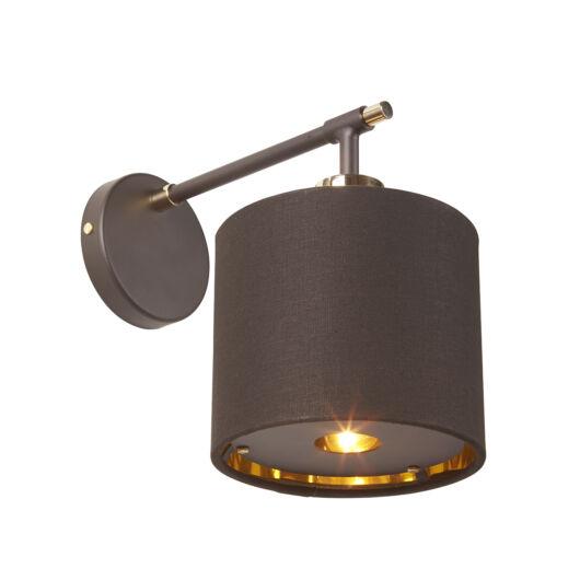 Elstead Balance barna/csiszolt sárgaréz fali lámpa