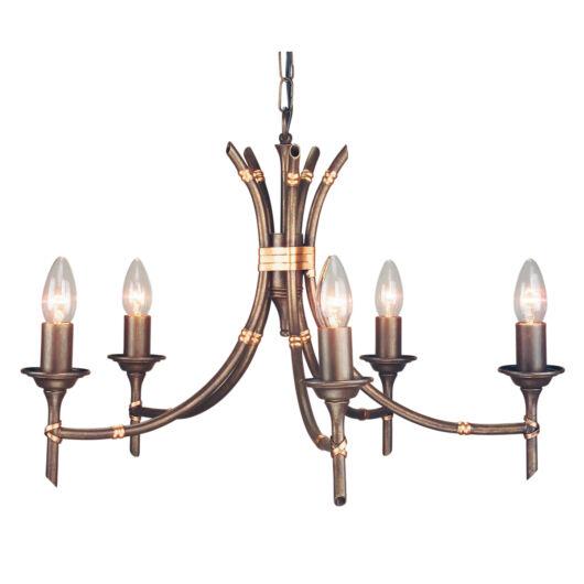 ELSTEAD Bamboo 5Lt csillár bronz (sötét árnyalat)